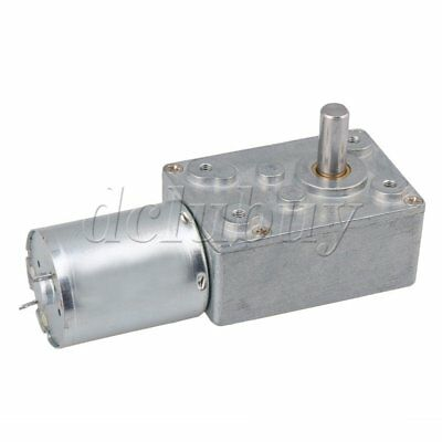 High Torque 12V DC 62rpm DC Worm Geared Motor With Gear Reducer Turbo Motor