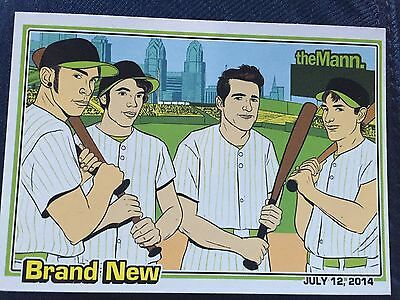 Brand New Jesse Lacey Baseball Card from Show at The Mann on July 12, 2014