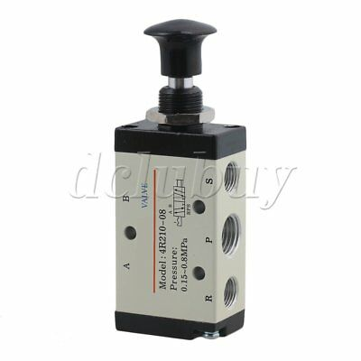 "5 Port 2 Postion 1/4"" PT Hand Operated Air Valve Manual Control 4R210-08"