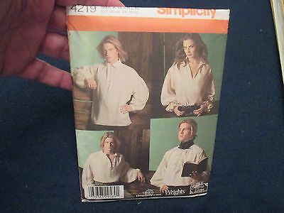 New Simplicity Costume Pattern Victorian Shirt Steampunk LARP Old West Reanact