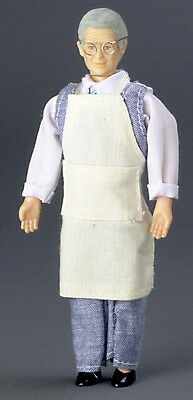 Dollhouse Miniature Doll Shopkeeper with Apron Town Square #00072 1:12 Scale