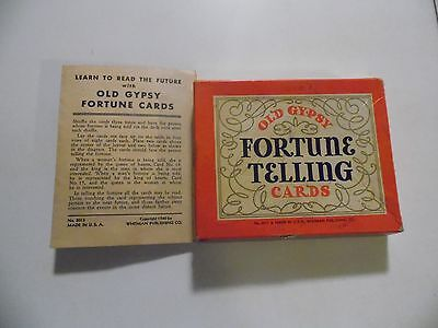 Vintage Whitman Old Gypsy Fortune Telling Cards, #3012, 1940, Complete