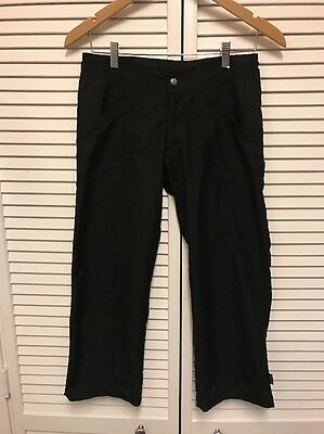 Prana Womens Polyester Climbing Hiking Camping Outdoor Pants Size XS X 25 Black
