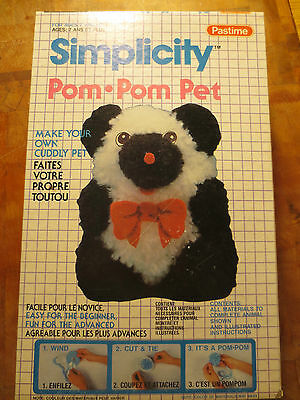 Vintage Simplicity Pom-pom Pet by Pastime - Complete 1986 - Box not sealed