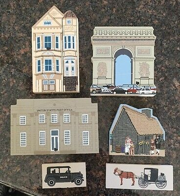 THE CATS MEOW US Post Office, Paris, Massachusettes And Lady Elizabeth  Lot Of 6