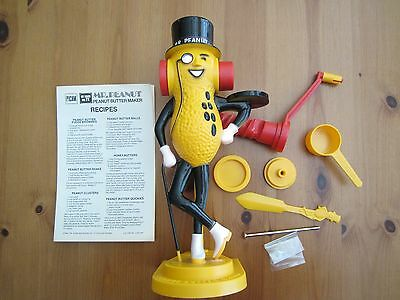 "Vintage 1960's ""The Famous""  Mr. Peanut- Peanut Butter Maker Original Box"