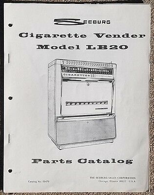 Seeburg Model LB20 Cigarette Vendor Vending Machine Parts Catalog 55470