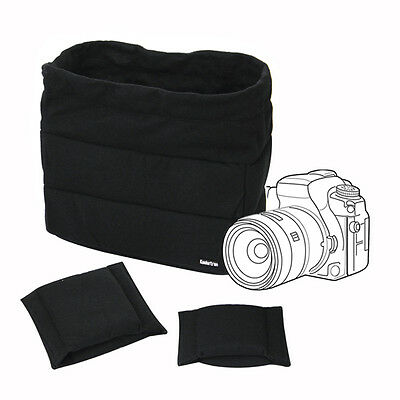 Waterproof DSLR SLR Camera Bag Partition Padded Protection Insert Case For Canon