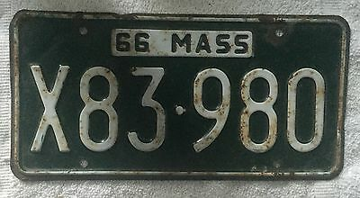 Vintage 1966  Massachusetts License Plate Free Shipping Visit My Store