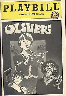 """1984 PATTI LuPONE~RON MOODY """"Oliver!"""" Revival ~ PLAYBILL CENTENNIAL EDITION"""