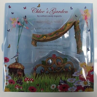 New Chloe's Garden Fairy Decorations Slide And Chair Fv270