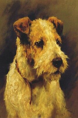 Jack Russell Terrier WH Puppy Dog by Arthur Wardle  LARGE New Blank Note Cards