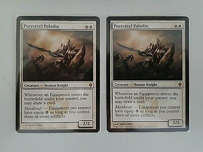 PURESTEEL PALADIN - New Phyrexia - MTG Magic the Gathering - NM/M