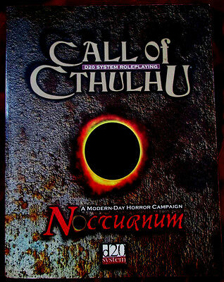 CALL OF CTHULHU - NOCTURNUM. d20 RPG Campaign. Scarce OOP
