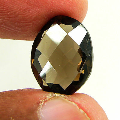 10.75 Ct Natural Oval Smoky Quartz Loose Gemstone Stone - ZS2050