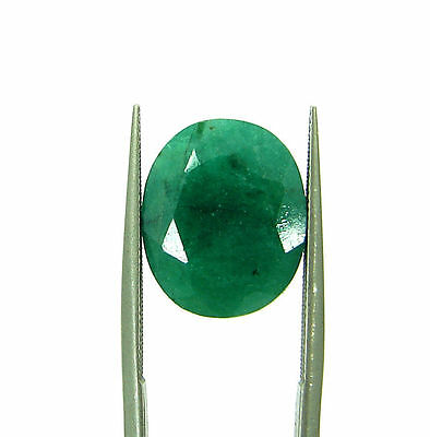 6.43 Ct Certified Natural Green Emerald / Panna Oval Loose Gemstone - 111545