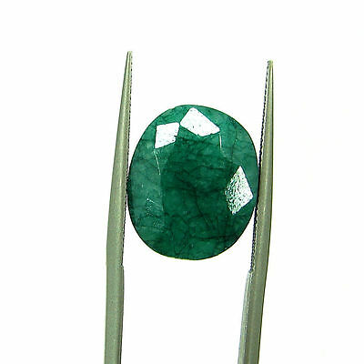 8.70 Ct Certified Natural Green Emerald / Panna Oval Loose Gemstone - 111546