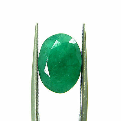 5.47 Ct Certified Natural Green Emerald / Panna Oval Loose Gemstone - 111604