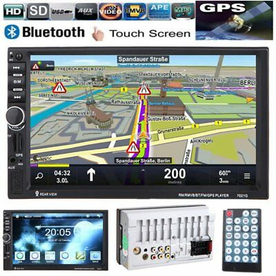 "GPS 7"" HD Touch 2 DIN Car Stereo MP5 Player Bluetooth Radio FM/USB/DVR/AUX GT"
