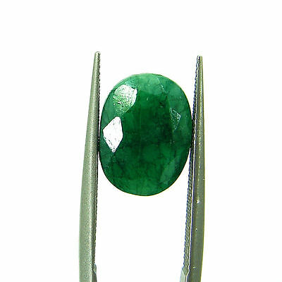 3.90 Ct Certified Natural Green Emerald / Panna Oval Loose Gemstone - 111573