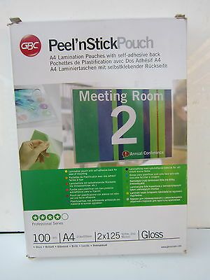 15x Peel n Stick Sticky Back Self Adhesive Laminating Pouches GLOSSY  Top Brand