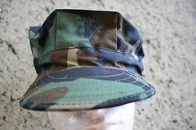 Usmc Us Marine Corps Ripstop Woodland Bdu Camo Combat Cap 8 Point Cover Size Xl