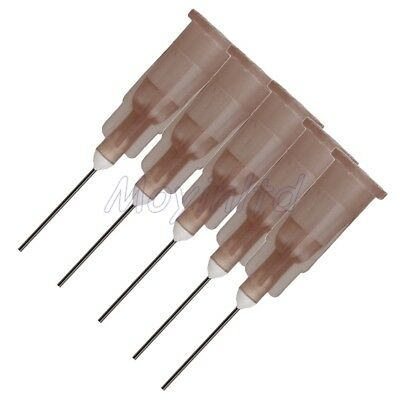 "100 Piece Dispensing Blunt Needle Tip 1/2"""" Brown 26Ga For Industrial Use"