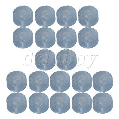 20 x Rubber Transparent Round Bumper Pads Furniture Feet Protector 16.6 x 8mm