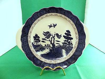 Royal Doulton The Majestic Collection Booths Real Old Willow Cake Plate
