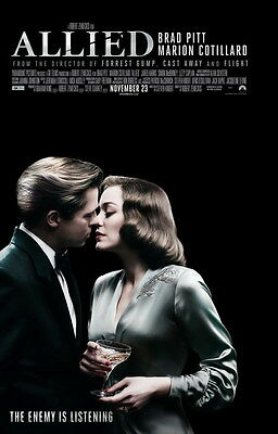 "7829 Hot Movie TV Shows - Allied 2016 14""x21"" Poster"