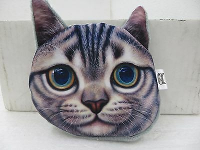 Cat Face Coin Pouch Lined