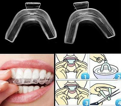 2 X Thermoform Moldable Mouth Teeth Dental Tray Tooth Whitening Guard Whitener H