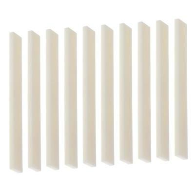 DIY Unslotted Cattle Bone Saddles for Guitar Bass String Instruments 10pcs