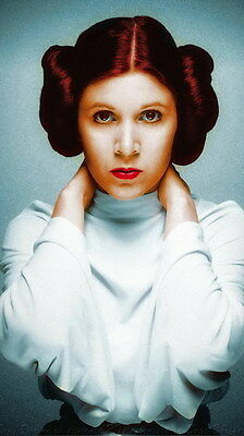 "MX18087 Carrie Fisher - American Actress Princess Leia Star 14""x24"" Poster_18087"