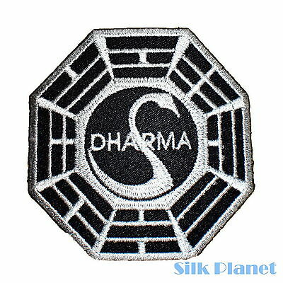 DHARMA Swan Octagon Lost Zen Tao Iron On Patch DIY Applique Embroidered Sew