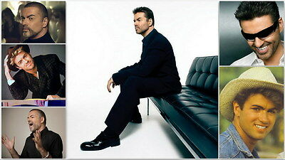 "MX18242 George Michael - English Pop Singer Music Star 24""x14"" Poster"