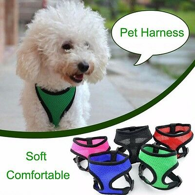 Pet Harness Collar Leash Strap Mesh Dog Cat Adjustable Vest Breathable Dog Puppy