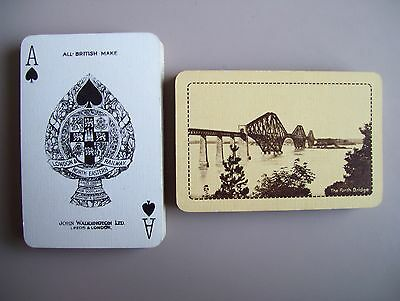 "London & North Eastern Railway ""forth Bridge"" Deck Of Playing Cards.(Yellow)(Ex)"