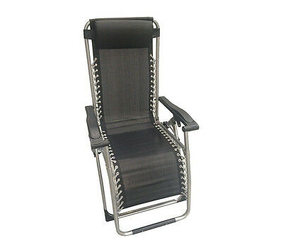 Prima by Bailey Outdoor Folding Camping & Garden Reclining Chair with Headrest