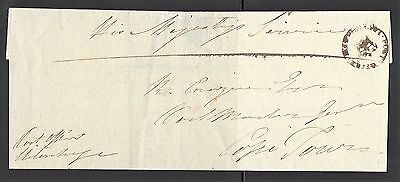 Cape Of Good Hope 1817 Pre-Stamp Cover Uttenhagen To Cape Town Crown Cancel Vf!