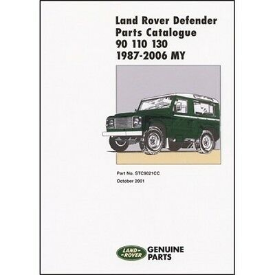 Land Rover Defender 90 110 130 Parts Catalogue 1987-2006 MY book paper