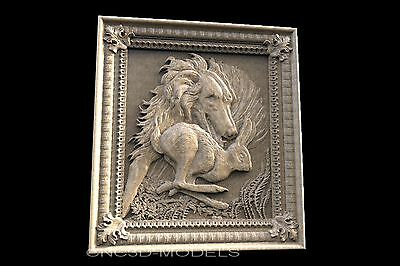 3D Model STL for CNC Router Engraver Carving Relief Artcam Aspire Hunting 115