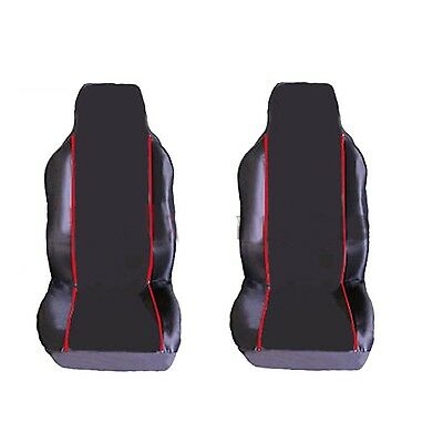 Peugeot 206Cc (2001-2007) Premium Fabric Seat Covers Red Piping 1+1