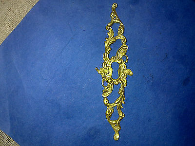 gilded brass French escutcheon, vintage