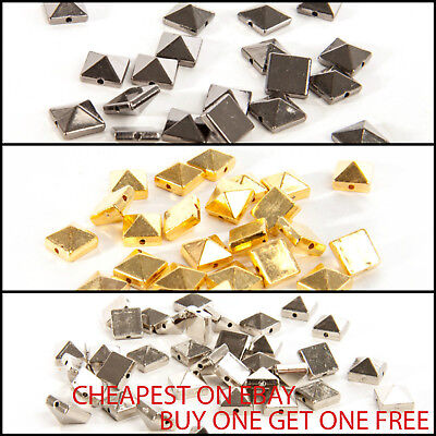 Acrylic Square Spike Sew on Studs, Beads BUY 1 GET 1 FREE