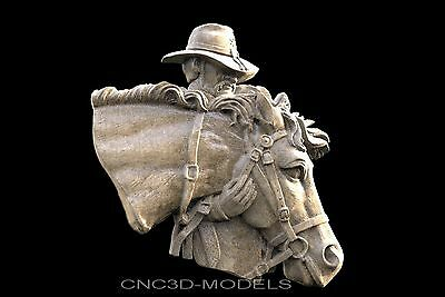 3D STL Models for CNC Router Engraver Carving Artcam Aspire Horse Cowboy 646