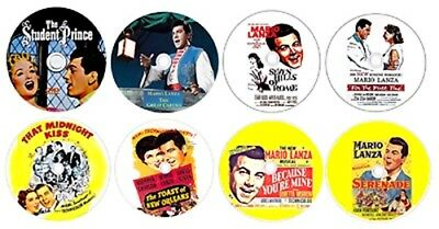 8 Mario Lanza Dvd Collection- Student-Caruso-7 Hills-For 1St Time-Midnight Kiss
