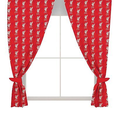 "Liverpool FC Crest Curtains 66"" x 72"" inches"