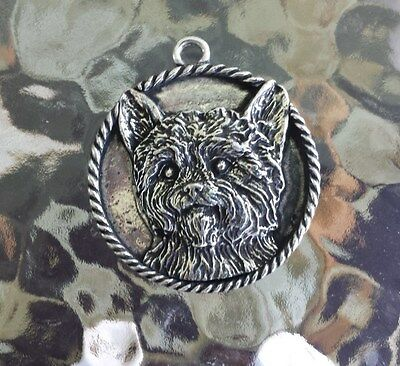 HOUSE PET PUREBRED 1 YORKSHIRE TERRIER DOG PEWTER PENDANT or POCKET COIN New
