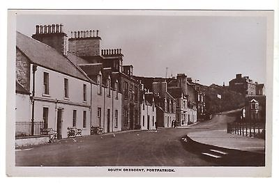 Portpatrick postcard,South Crescent.Real Photo.